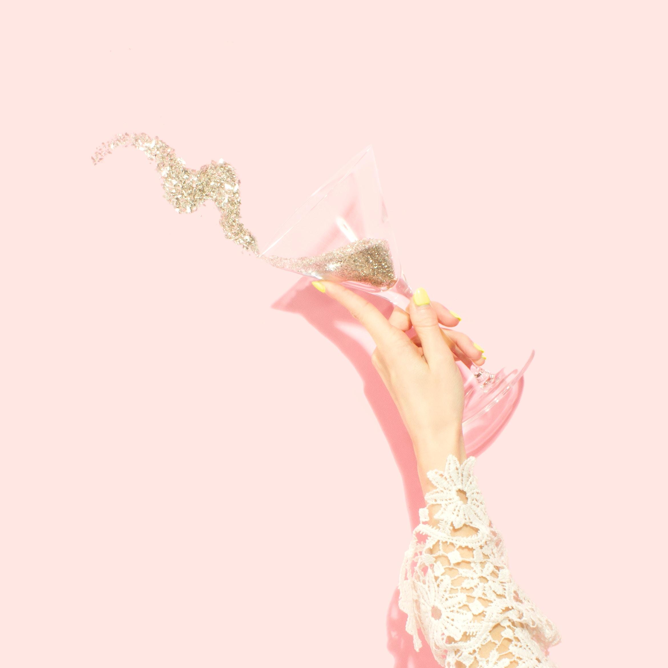 Martini glitter background by Amy Shamblen